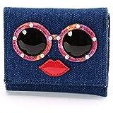 スパイラルガール(バッグ&ウォレット)(SPIRALGIRL) フェイス三つ折り財布