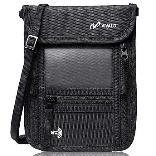 VIVALD パスポートケース 首下げ スキミング防止 7ポケット 軽量