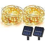 Solar String Lights, Sunlitec 100 LEDs Starry String Lights, Copper Wire Solar Lights Ambiance Lighting for Outdoor, Gardens,
