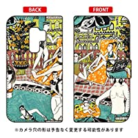 [Galaxy S9+ SC-03K・SCV39/docomo・au専用] SECOND SKIN スマートフォンケース 手帳型スマートフォンケース 若林夏 「pool」 DSC03K-IJTC-401-LJ68