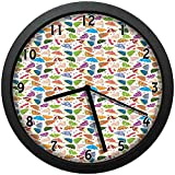 25 cmの直径およびフレームの家の不規則に華やかな子供の日傘および曲がったハンドルのユニークな装飾的な腕時計の壁の装飾