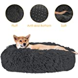 SlowTon Pet Calming Bed, Donut Cuddler Nest Warm Soft Plush Dog Cat Cushion with Cozy Sponge Non-Slip Bottom for Small Medium