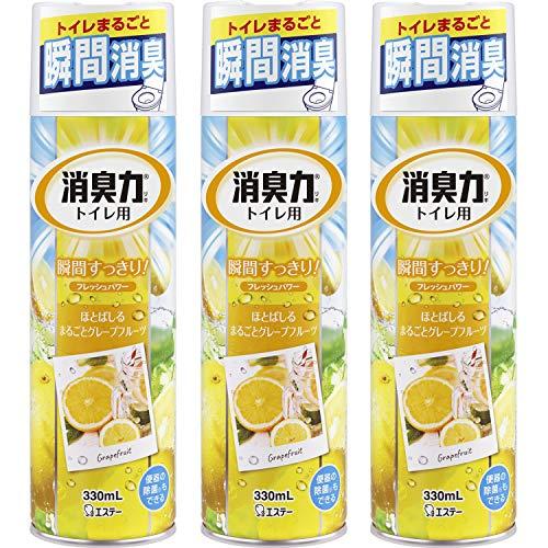 『【まとめ買い】 トイレの消臭力スプレー 消臭芳香剤 トイレ用 トイレ グレープフルーツの香り 330ml×3個』のトップ画像