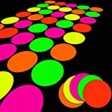 25 SheetsNeonPapers,GlowPartyDecoration SuppliesDIYDanceFloor Moves Games Classic TwisterUVReactiveMulti-Colored C