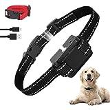 ULTPEAK Anti Bark Collar Stop Dog Barking Collars Risk Free No Shock Bark Collar, Sound Vibration Humane NO Harm Training,Rec