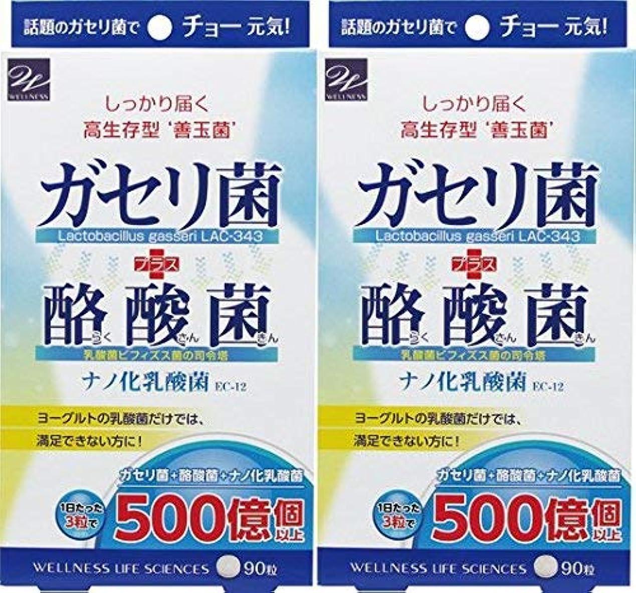 プレゼンターオーロック提供されたウエルネスライフサイエンス ガセリ菌+酪酸菌 90粒 x2個セット