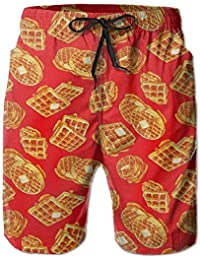 ワッフル メンズ サーフパンツ 水陸両用 水着 海パン ビーチパンツ 短パン ショーツ ショートパンツ 大きいサイズ ハワイ風 アロハ 大人気 おしゃれ 通気 速乾