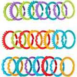 BESPORTBLE Baby Connecting Ring Lightweight Fun Colorful Creative Durable Teether Ring Connecting Ring Baby Stroller Toy Link