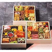 北海道 北のシェフ おせち料理 2019 和洋中 三段重 43品 盛り付け済み 冷凍おせち お届け日12月30日