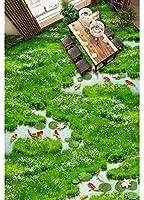 Wapel 壁画の 2519 d 壁紙カスタム サイズ 草沼蓮鯉、バスルーム ベッドルーム 3 D 3 次元床塗装 300x210cm