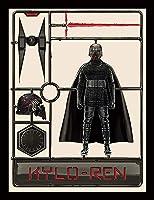 STAR WARS スターウォーズ (映画公開記念「スカイウォーカーの夜明け」) - The Rise of Skywalker/Kylo Ren Model/額入りフォトボード/インテリア額 【公式/オフィシャル】