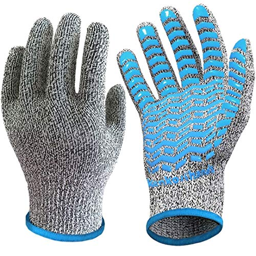 軍手 防刃手袋 滑り止め 付 破れない 防災 作業用 防刃 軍手 手袋 切れない手袋 作業用軍手 (L - XL 防刃 5級)