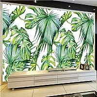 Jason Ming 東南アジア熱帯雨林新鮮な緑のバナナの葉の写真の壁紙レストランクラブKtvモダンな3D壁画の装飾-200X140Cm