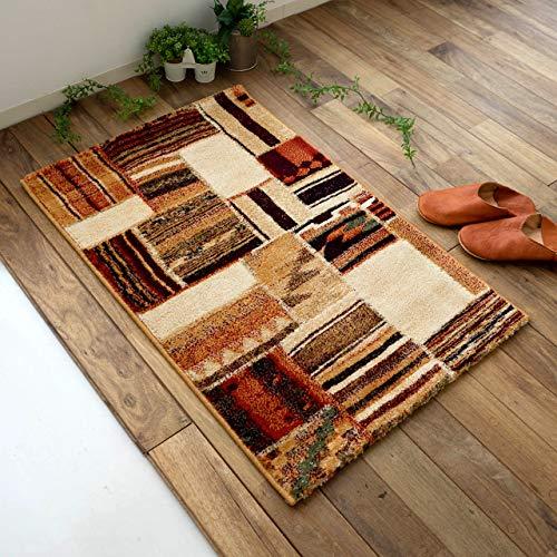 室内 屋内 用 玄関 マット スパニッシュ モデロ Ⅶ 約 50x80 cm スペイン 柄 ウィルトン織り カーペット