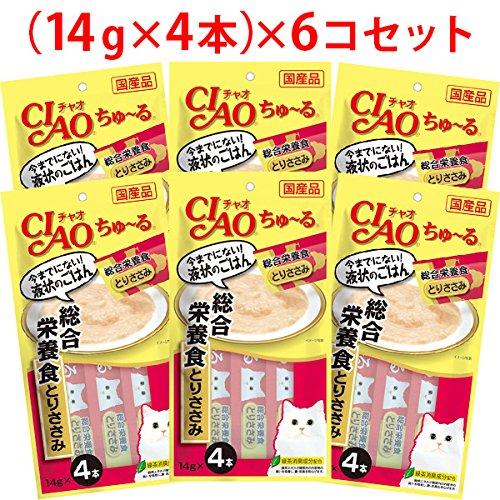 【セット販売】チャオ ちゅ~る 総合栄養食 とりささみ (14g×4本)×6コ [ちゅーる]