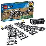LEGO City Trains Switch Tracks 60238建物キット(8ピース)、マルチカラー