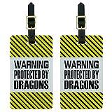 警告で保護ドラゴンsの荷物のタグセット
