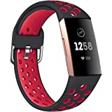 Fitbit Charge 3 Silicone Band, Compatible for Fitbit Charge 4 Band/Fitbit Charge 3 Band, Soft Silicone Sport Watch Band Repla