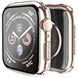 Smiling Case Compatible with Apple Watch Series 6/SE/Series 5/Series 4 44mm with Built in Tempered Glass Screen Protector- Al