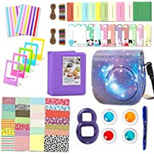 Fujifilm Instax Mini 9 Accessories, Leebotree 10 in 1 Camera Bundles Set Include Case/Album/Selfie Lens/Filters/Wall Hang Frames/Film Frames/Border Stickers/Corner Stickers/Pen (Starry Sky)