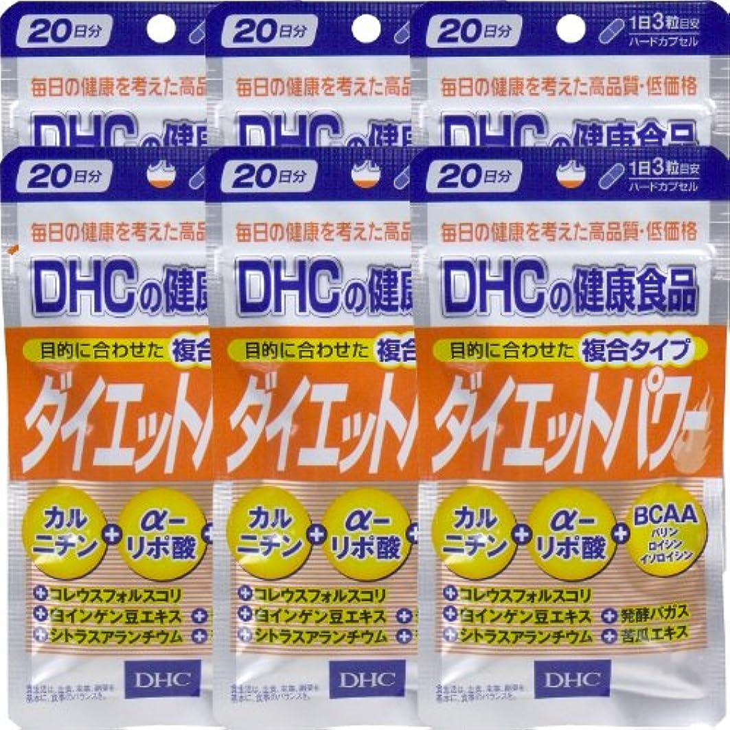 無秩序いたずらな切り離すDHC ダイエットパワー 20日分(60粒) ×6個