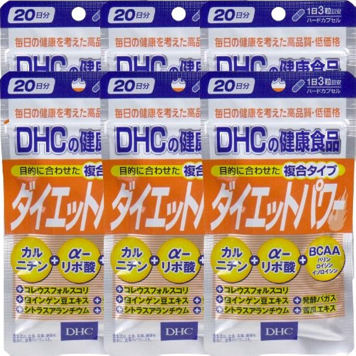 踏み台マトリックス洗練DHC ダイエットパワー 20日分(60粒) ×6個