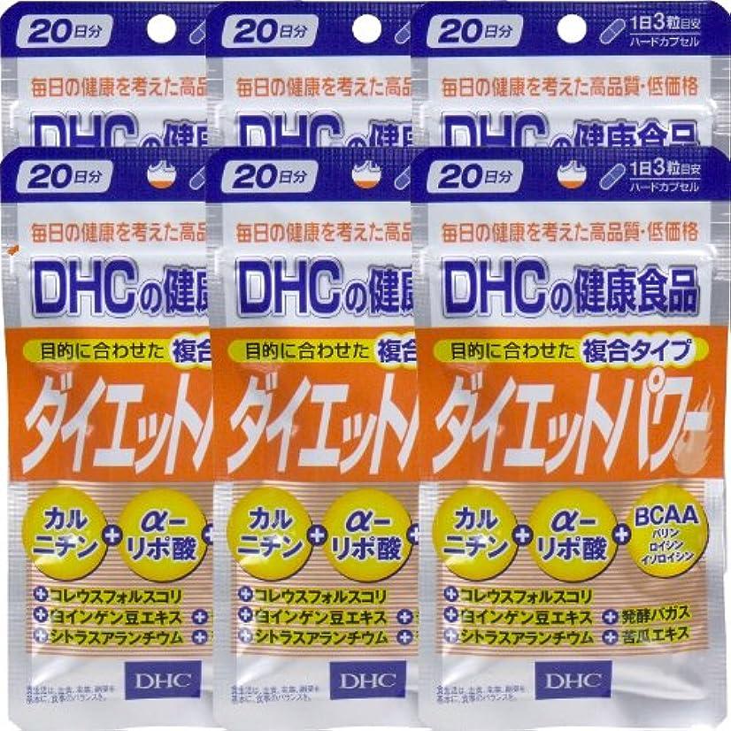 ビデオ統計的乱れDHC ダイエットパワー 20日分(60粒) ×6個
