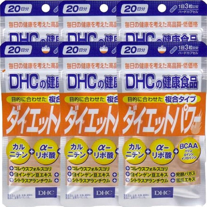 メダリストかろうじて拍車DHC ダイエットパワー 20日分(60粒) ×6個