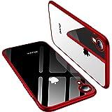 TORRAS iPhone XR ケース 透明 TPU ソフト 赤いメッキ加工 黄ばみなし 耐衝撃 フィット感 おしゃれ レンズ保護 6.1インチ 高級感 アイフォンXRカバー(レッド)[ Shiny Series]