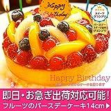 誕生日ケーキ・バースデーケーキ フルーツタルト14cm プレート・キャンドル5本無料【即日出荷対応可】フルーツ増量チーズケーキ・フルーツケーキ・スイーツ