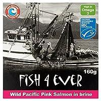 (Fish 4 Ever (今まで魚4)) 野生の太平洋のピンクサーモン160グラム (x2) - Fish 4 Ever Wild Pacific Pink Salmon 160g (Pack of 2) [並行輸入品]