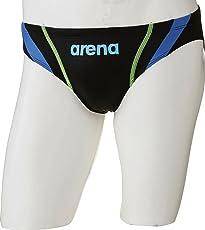 arena(アリーナ) 競泳用 水着 ボーイズ ジュニア X-パイソン2 リミック FINA承認 ARN-7033MJ BKLB(ブラック×Lブルー)