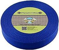Country Brook Design   1 1/2インチ ブルー厚手ポリプロピレンウェビング 50 Yards ブルー WPH-BLU-1.1.2-50