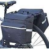 Vuudh Water-Resistant Portable Bike Pannier Bag - 26L Bicycle Panniers with Reflective Trim, Bike Rear Seat Saddle Bags