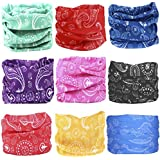 KALILY 12PCS/9PCS/6PCS Headband Bandana - Versatile Sports & Casual Headwear –Multifunctional Seamless Neck Gaiter, Headwrap, Balaclava, Helmet Liner, Face Mask for Camping, Running, Cycling, Fishing etc (Paisley Pack B)
