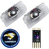 カーテシランプ トヨタ ハリアー ドアウェルカムライト 車用ドアランプ トヨタ ハリアー カーテシライト Toyota ハリアー カーテシ led レーザーロゴライト+USB LED 8色ライト車内イルミライト1個 LEDロゴ投影 ゴーストシャドウ