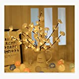 Mostbest Lighted Flowers Branch- Artificial Phalaenopsis Decorative Lights Flower Shape Lighted Branch Waterproof for Home Ch