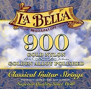 La Bella 900 Golden Superior/Golden Nylon+Polished Golden Alloy