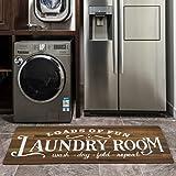Vintage Wood Carpet for Laundry Room Wooden Plank Area Rugs Non Slip Runner Rug Waterproof Natural Rubber Kitchen Runner Laun