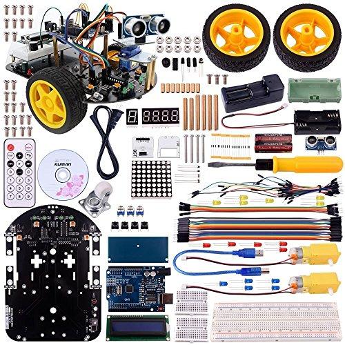Kuman スマートカー ロボットカー Arduino用 2輪 超音波/リモート/コントロール 電子キット おもちゃ Sm2
