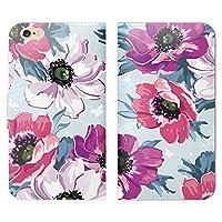 Qua Phone PX(キュアフォン) LGV33 手帳型 ベルト無し ケース ストラップホール付 花 イラスト 水彩画 花柄 絵 かわいい RB000804_01