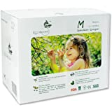ECO BOOM Baby Bamboo Biodegradable Diapers Infant Nature Disposable Diapers Eco Friendly Nappies for Babies 96 Count-Pack Siz