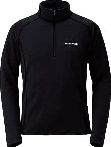 モンベル(mont‐bell) メリノウールプラス ハイブリッドジップシャツ Men's (男性用) 1114274 ブラック BK M