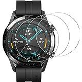 [3枚セット] Huawei Watch GT2 46mm ガラスフィルム Huawei Watch GT2 46mm フィルム 硬度9H/99%高透過率/気泡ゼロ/防指紋/全面吸着/浮き防止 Huawei Watch GT2 液晶 保護 フィルム