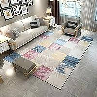 YYSD モダンスタイルのラグリビングルーム、室内の柔らかいタッチの大きな家の床面積の敷物、色の縞模様のカーペット(120cm X 160cm) (Color : C, Size : 180× 280cm)