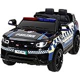 Rigo Ride On Car Kids Electric Toy Cars Inspired Patrol Police Remote Control Car-Black