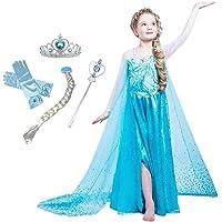 CREDIBLE 子供 用 プリンセス ドレス コスチューム 豪華6点セット ・アイスブルー ( プリンセスドレス…