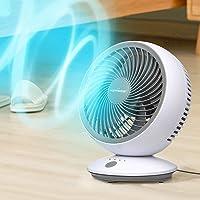 【2020最新改良版】 KEYNICE サーキュレーター 首振り 静音 パワフル送風 扇風機 小型 卓上 壁掛け 6畳…