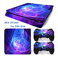 Hzjundasi 1308# Body Sticker Decal Skin ステッカーデカールスキン For Playstation 4 PS4 Slim Console+Controllers