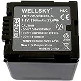 NLC VW-VBG260-K VW-VBG260 互換バッテリー [ 純正充電器で充電可能 残量表示可能 純正品と同じよう使用可能 ] パナソニックに向け HDC-TM750 / HDC-TM650 / HDC-TM700 / HDC-TM30 /